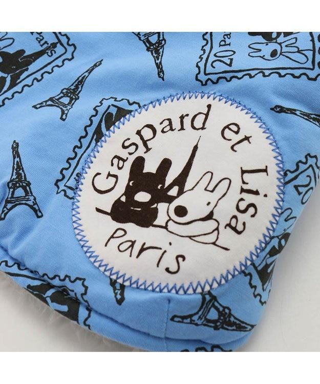 PET PARADISE リサとガスパール 切手 綿入れ ベスト青〔小型犬〕