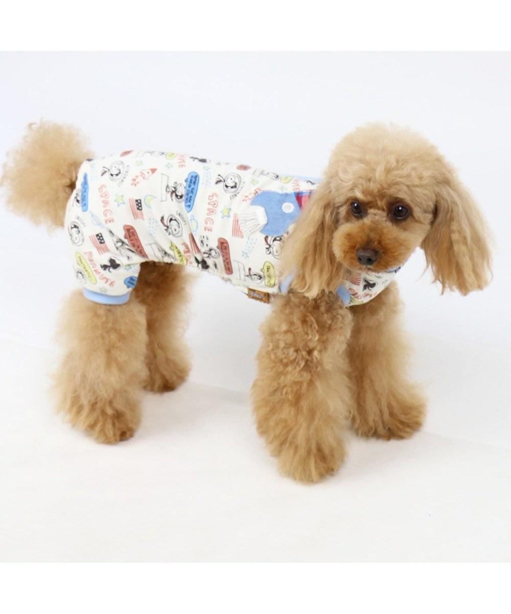 PET PARADISE スヌーピー アストロ ペティヒート ロンパース〔小型犬〕 白~オフホワイト