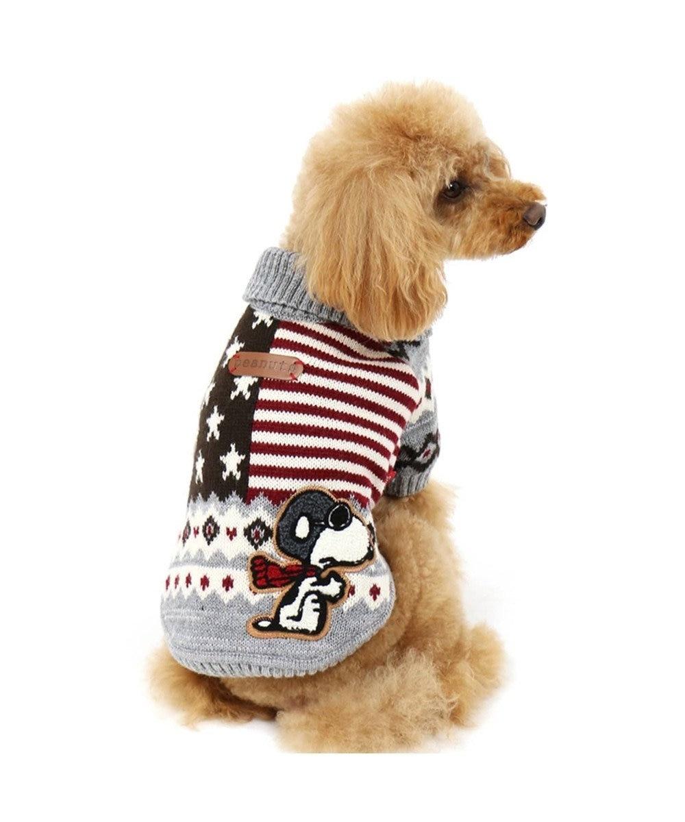 PET PARADISE ネット店限定 スヌーピー カウチンニット グレー〔中・大型犬〕 グレー