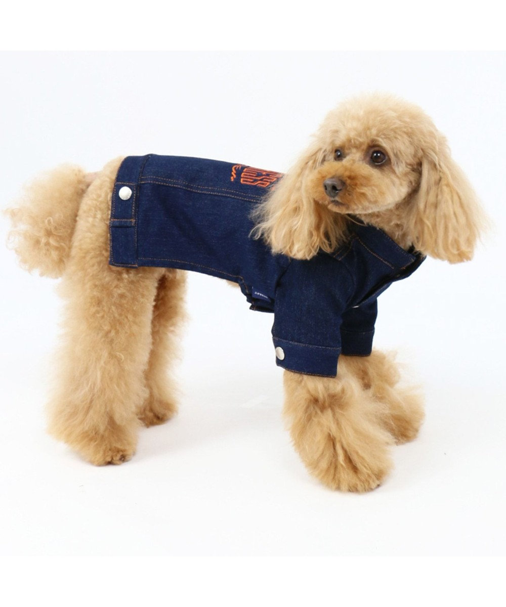PET PARADISE J.PRESS ボア Gジャン ジージャン〔小型犬〕 紺(ネイビー・インディゴ)