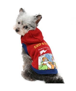 PET PARADISE ディズニー チップとデール ポケット アクティブ ニット〔小型犬〕 赤