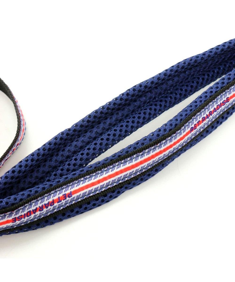 PET PARADISE ペットパラダイス ロゴ ボーダー リード 青 SS~S〔小型犬〕 紺(ネイビー・インディゴ)