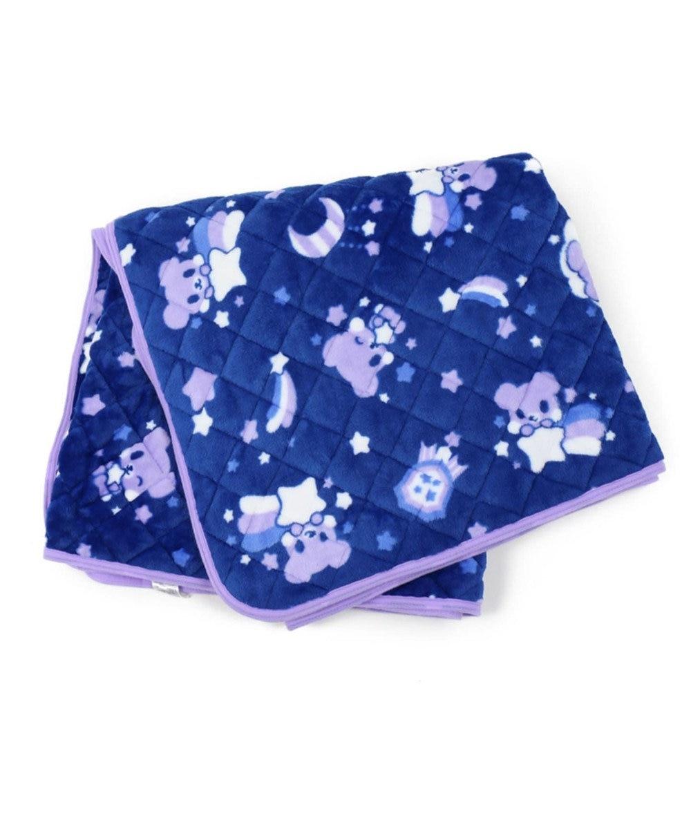 Mother garden くまのロゼット シングル 敷パッド  おやすみ柄 紫