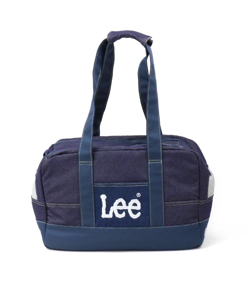 PET PARADISE Lee ペットキャリーバッグS デニム風 ボックス型〔超小型犬〕 紺(ネイビー・インディゴ)