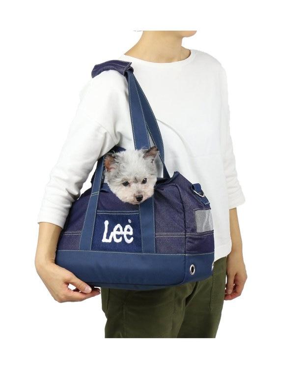 PET PARADISE Lee ペットキャリーバッグM デニム風 ボックス型〔小型犬〕