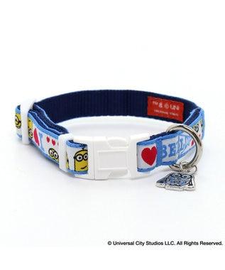 PET PARADISE ミニオン アイラブ 首輪 ペットSS〔小型犬〕 青