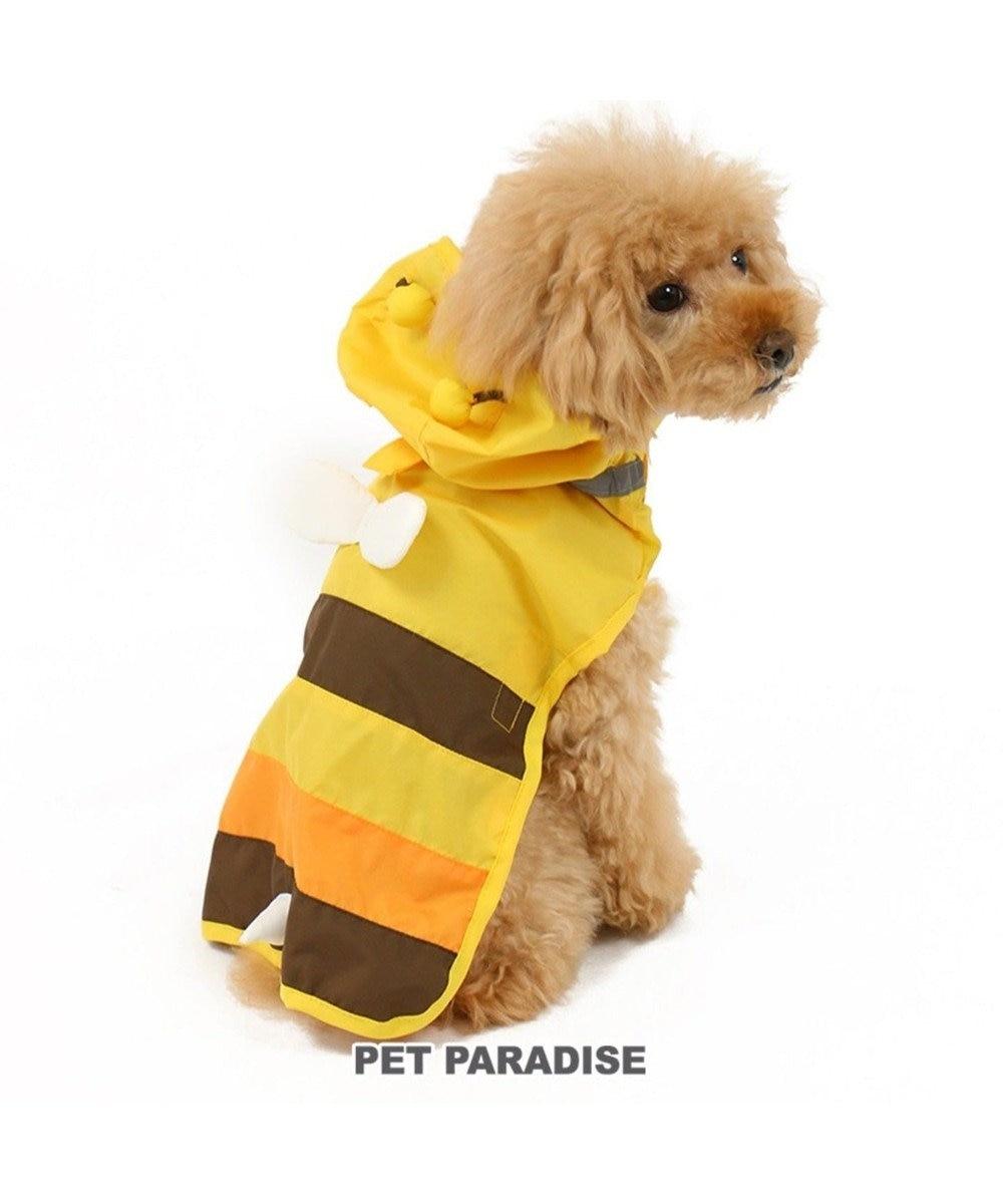PET PARADISE 犬服 犬用品 ペットグッズ ペットウェア ペットパラダイス 犬 カッパ 蜂レインコート(ポンチョタイプ)【小型犬】 雨具 ポンチョ 黄