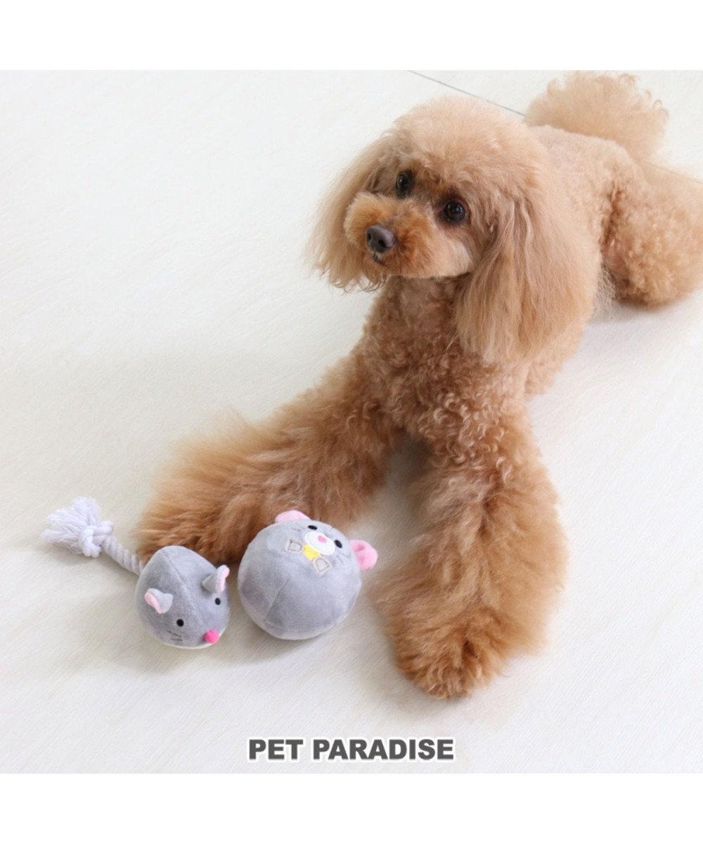 PET PARADISE ペットペットラダイス 犬用おもちゃ ねすみボール トイ 新年 年賀状 グレー