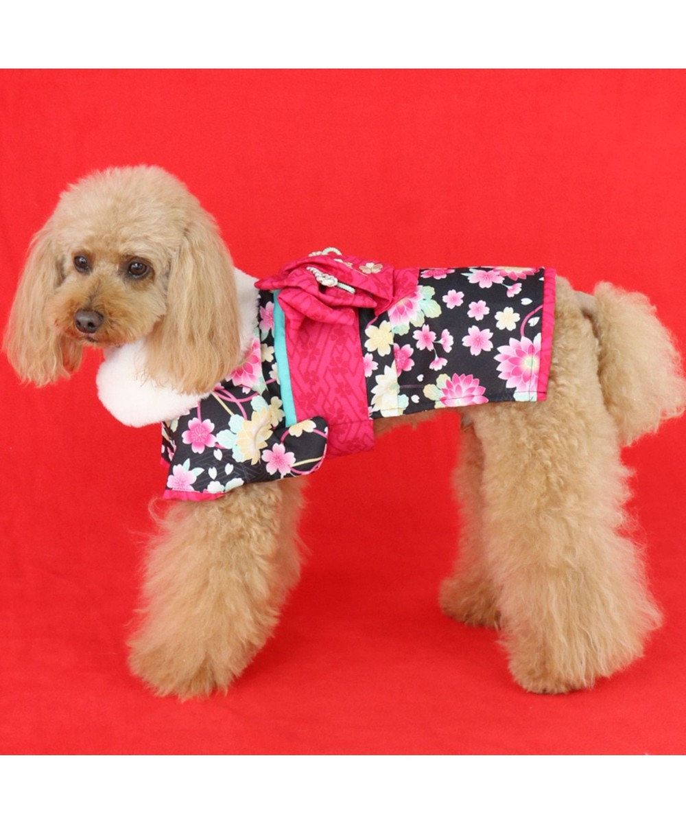 PET PARADISE ペットパラダイス 着物 黒〔小型犬〕新年 年賀状 七五三 黒