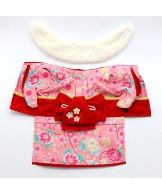 PET PARADISE ペットパラダイス 着物 ピンク〔小型犬〕新年 年賀状 七五三 ピンク(淡)