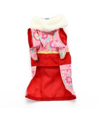 PET PARADISE ペットパラダイス 着物 ピンク〔中・大型犬〕新年 年賀状 ピンク(淡)