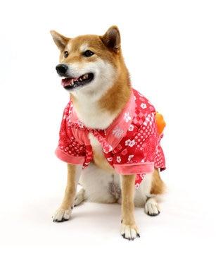 PET PARADISE ペットパラダイス 和み はんてん 赤〔中・大型犬〕 赤