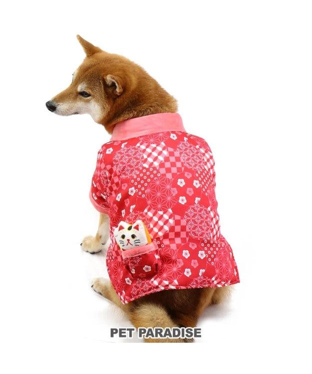 PET PARADISE ペットパラダイス 和み はんてん 赤〔中・大型犬〕