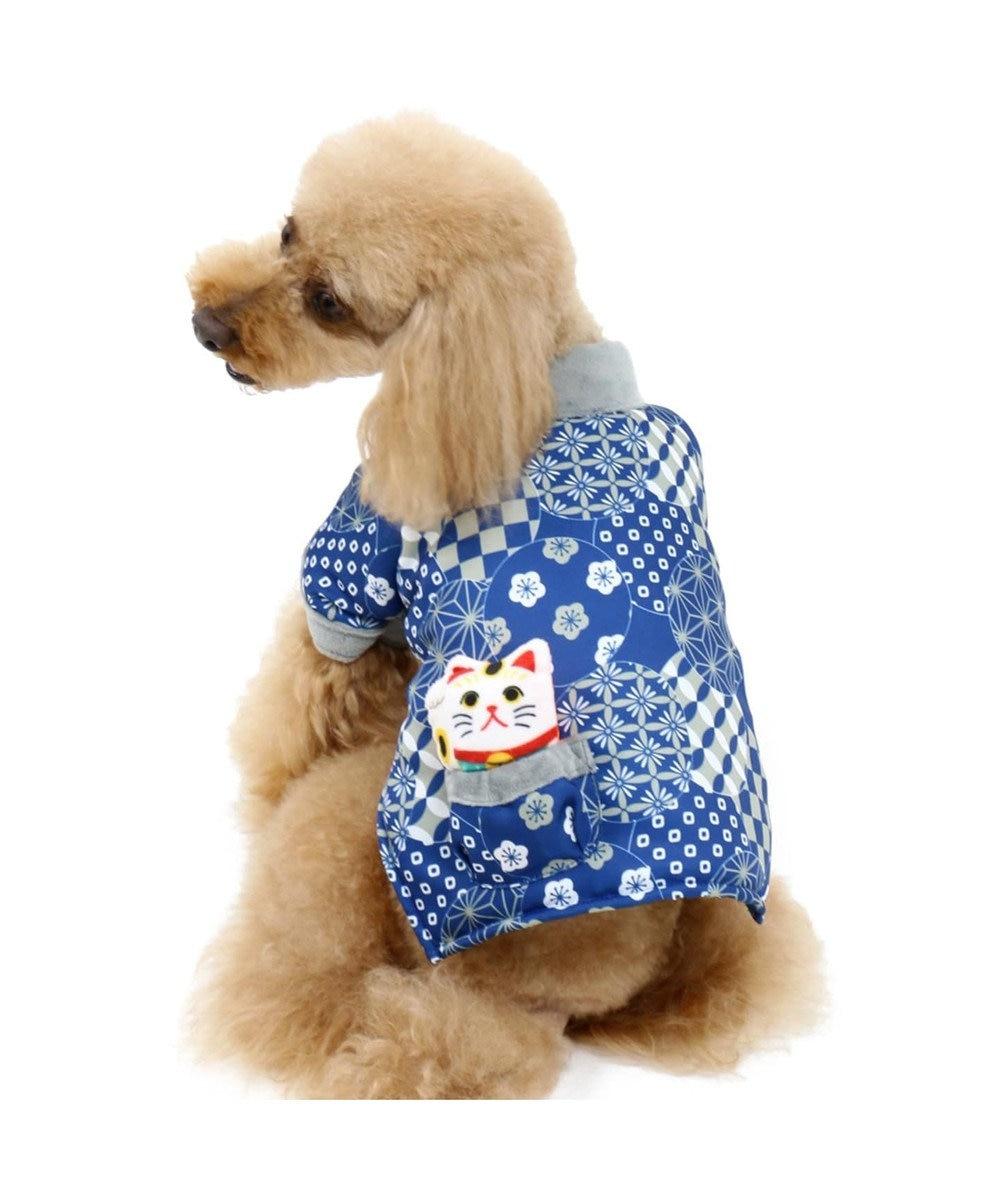 PET PARADISE ペットパラダイス 和み はんてん 紺〔小型犬〕 紺(ネイビー・インディゴ)