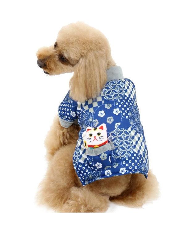 PET PARADISE ペットパラダイス 和み はんてん 紺〔小型犬〕