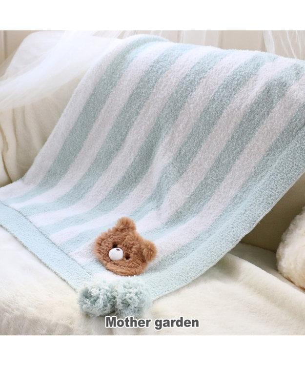 Mother garden マザーガーデンふわくま ひざ掛け ブランケット くま ブルー