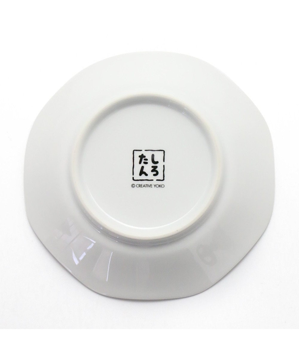 Mother garden しろたん 八角皿 炒飯パラパラ柄 日本製 陶器 0