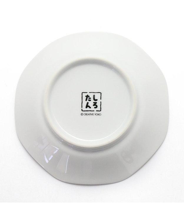 Mother garden しろたん 八角皿 炒飯パラパラ柄 日本製 陶器