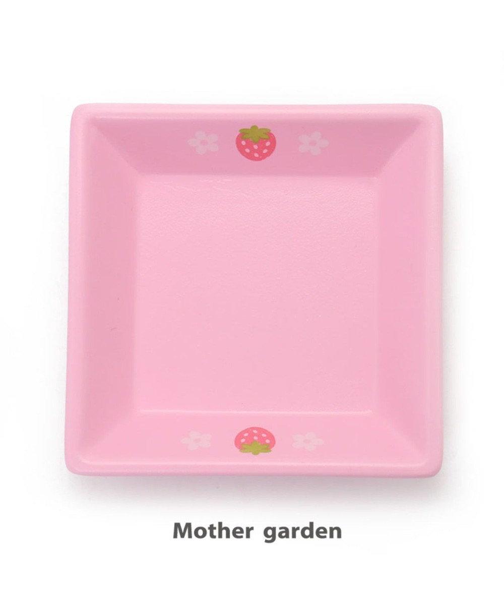 Mother garden マザーガーデン 木製 ままごと おままごと 食器 《角皿 桃》 0