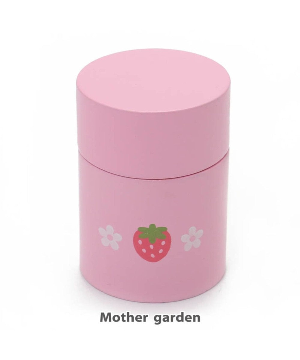 Mother garden マザーガーデン 木製 ままごと おままごと 食器 《茶筒・桃》 0