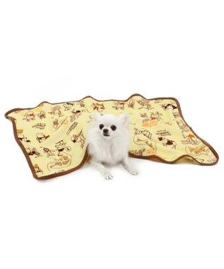 PET PARADISE ディズニー くまのプーさん コミック ブランケト 毛布 黄