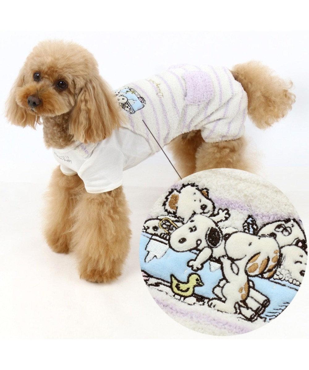 PET PARADISE スヌーピー デイジーヒル オーバーオール 紺〔小型犬〕 紺(ネイビー・インディゴ)