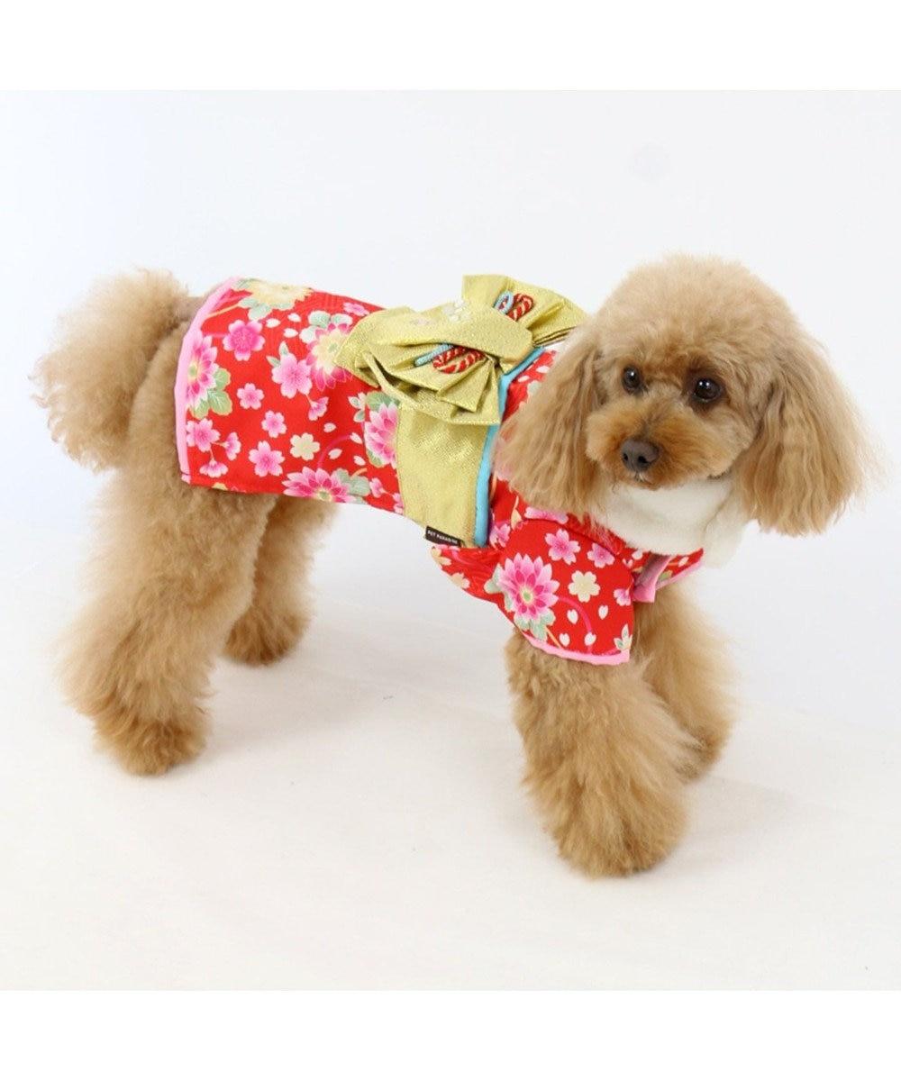 PET PARADISE ペットパラダイス 着物 赤〔小型犬〕お正月 新年 子年 年賀状 赤