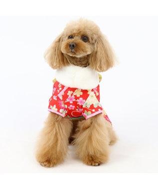 PET PARADISE ペットパラダイス 着物 赤〔中・大型犬〕お正月 新年 子年 年賀状 赤