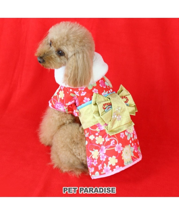 PET PARADISE ペットパラダイス 着物 赤〔中・大型犬〕お正月 新年 子年 年賀状