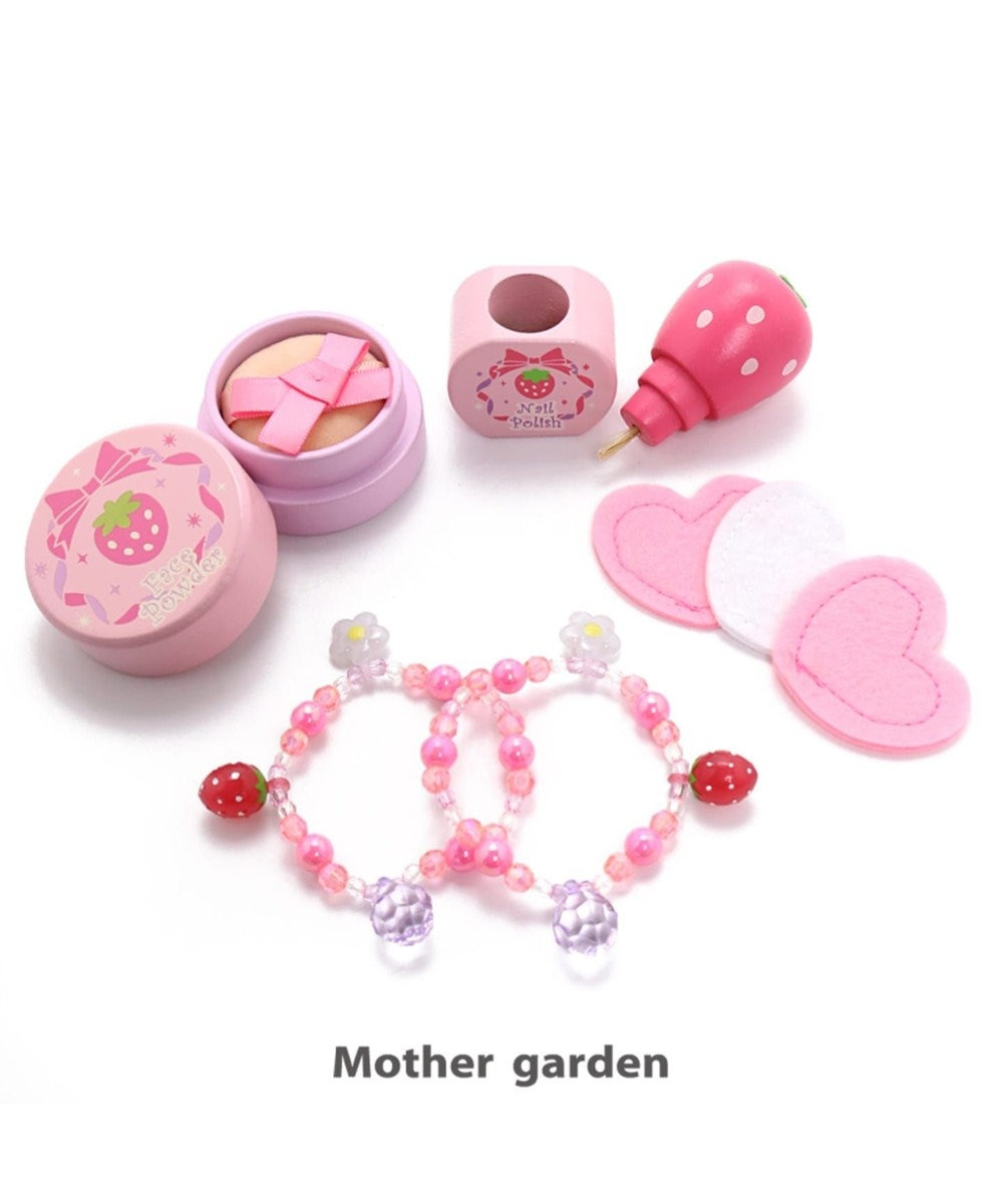 Mother garden 【期間限定5%ポイントUP】マザーガーデン ままごと 《おしろいセット・桃》 ピンク(淡)