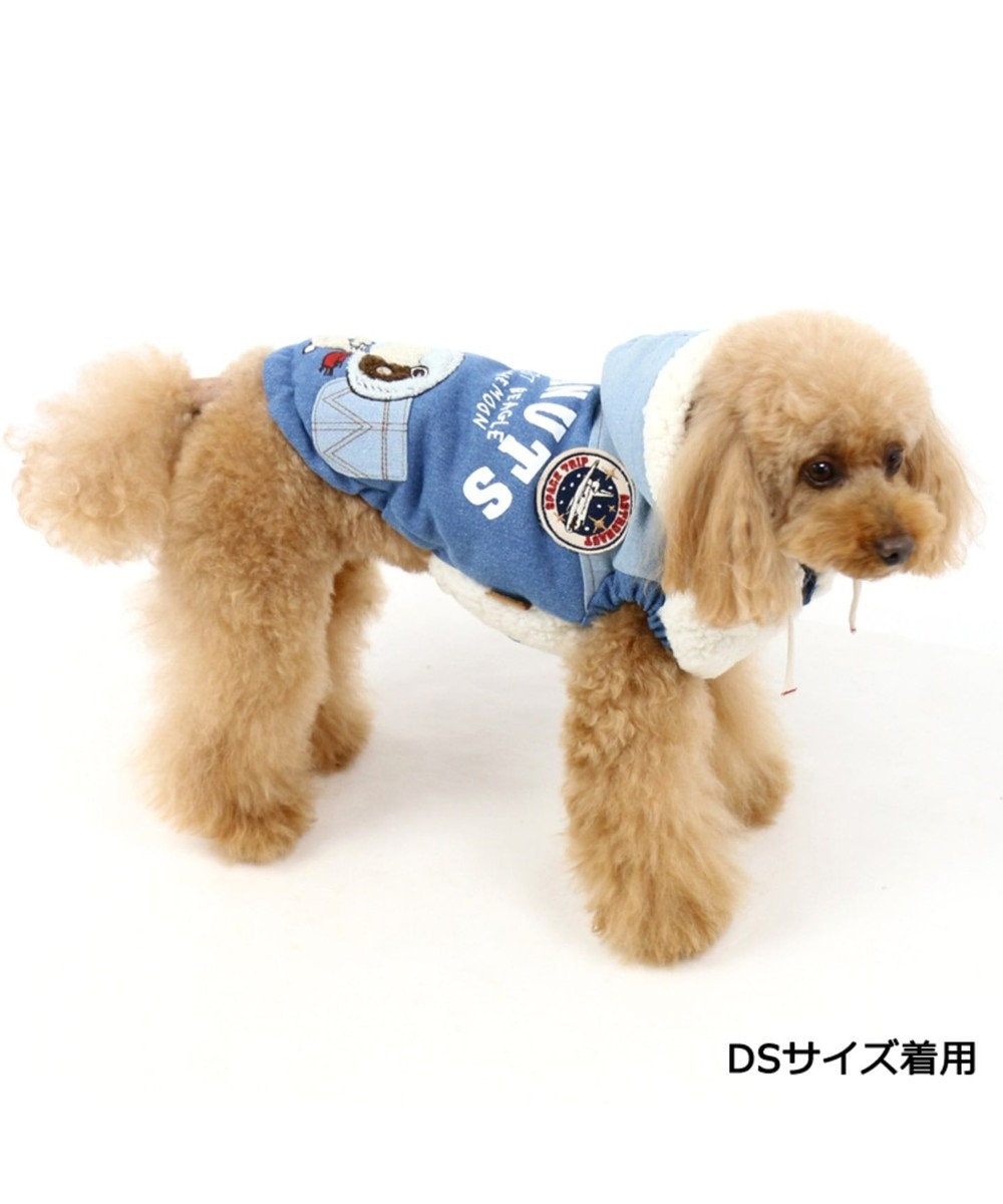 PET PARADISE ペットパラダイス スヌーピー アストロ ボアベスト 遠赤外線 青〔小型犬〕 青
