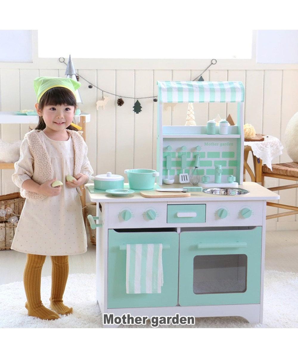 Mother garden マザーガーデン ネット限定 オープンカフェキッチン《ミント》 0