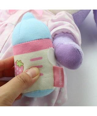 Mother garden はじめての着替ぷるねらちゃん  Mサイズ マスコット ピンク(淡)