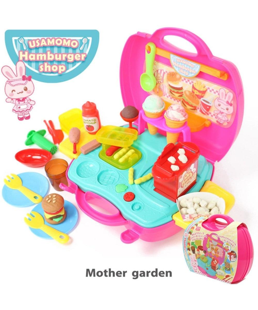 Mother garden うさもも 粘土 《ハンバーガーショップ》 ねんど遊び用道具セット 0