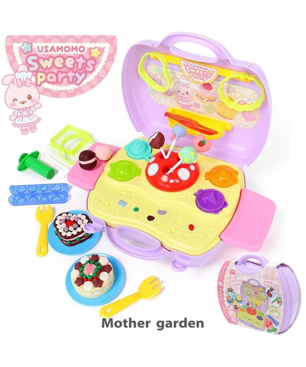 Mother garden うさもも 粘土 《スウィーツパーティー》 ねんど遊び用道具セット
