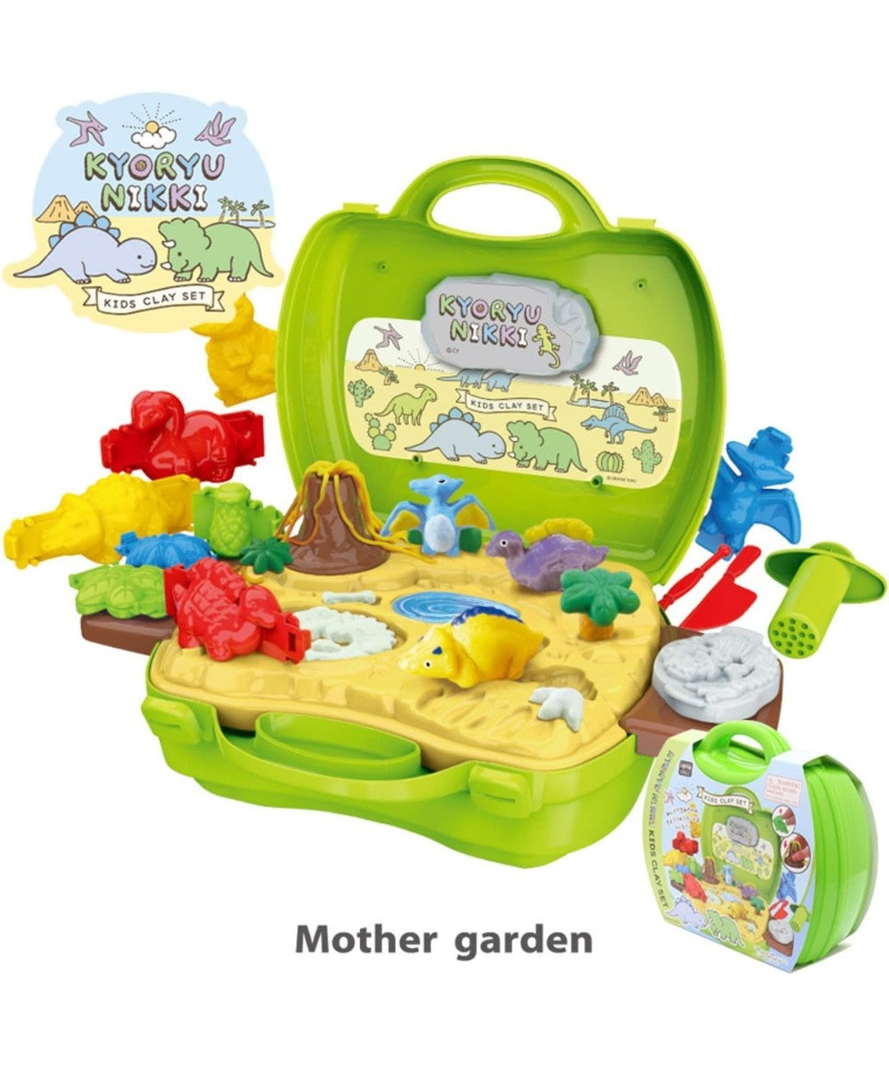 Mother garden きょうりゅう日記 粘土《ディノワールド》ねんど遊び用道具セット 0