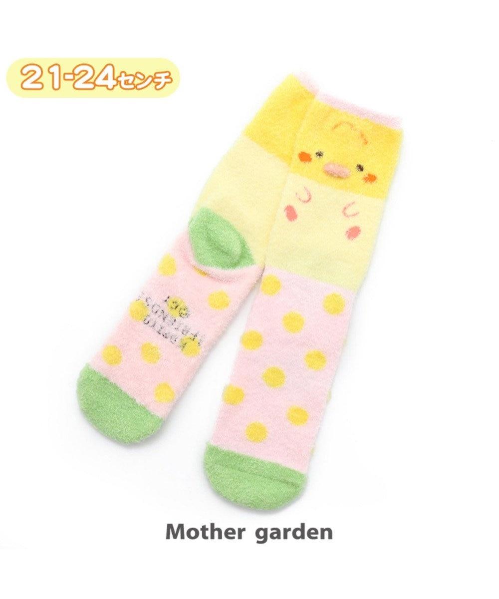 Mother garden こぴよフレンズ もこもこあったか 靴下 21cm-24cm 《こもぐ》 0