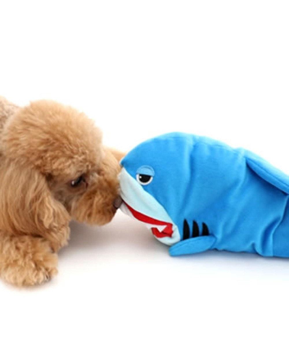 PET PARADISE ペットパラダイス 犬用おもちゃ パペット さめ トイ サメ 水色