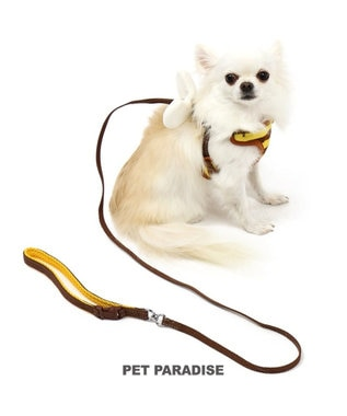 PET PARADISE ペットパラダイス 蜂反射 リード付きハーネス ペットS 茶系