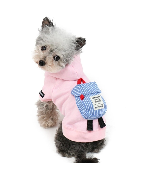 PET PARADISE ペットパラダイス リュックパーカー ピンク〔小型犬〕