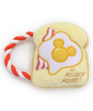 PET PARADISE ディズニー ミッキー 犬用おもちゃ トースト ロープ トイ ベージュ