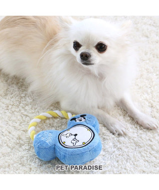 PET PARADISE ディズニー ミッキー 犬用おもちゃ 目覚まし時計 ロープ トイ 水色