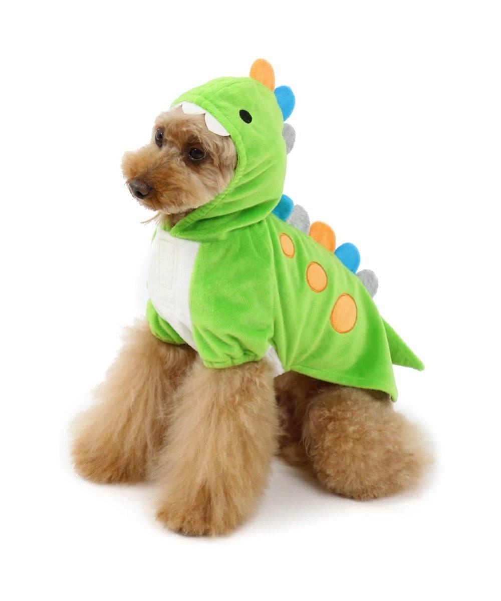 PET PARADISE ペットパラダイス 恐竜パーカー【小型犬】 緑