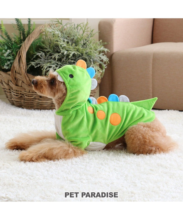 PET PARADISE ペットパラダイス 恐竜パーカー【小型犬】