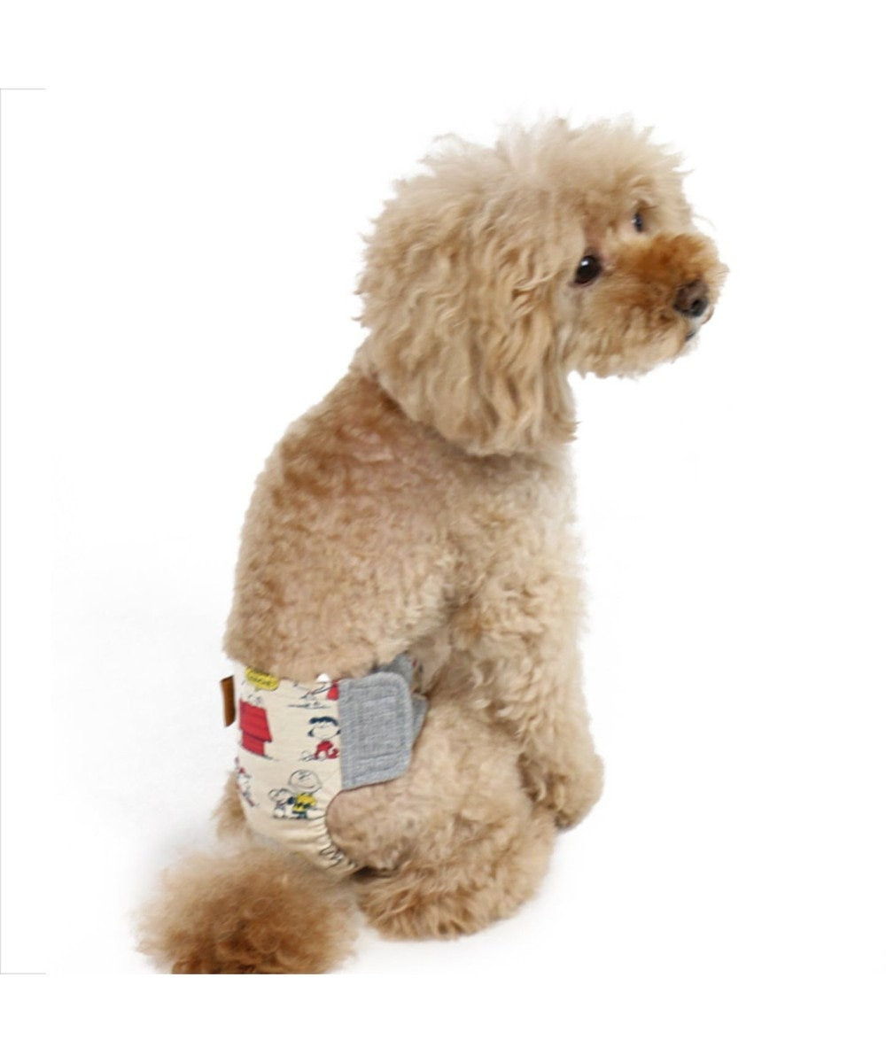 PET PARADISE スヌーピー 赤屋根 サニタリーパンツ 抗菌 防臭〔小型犬〕 グレー