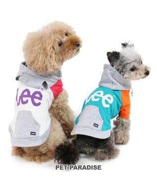 PET PARADISE Lee 切替 カラー パーカー 白〔小型犬〕 0