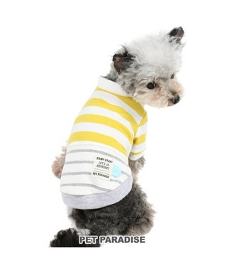PET PARADISE ペットパラダイス  ボーダー トレーナー 黄〔小型犬〕 黄