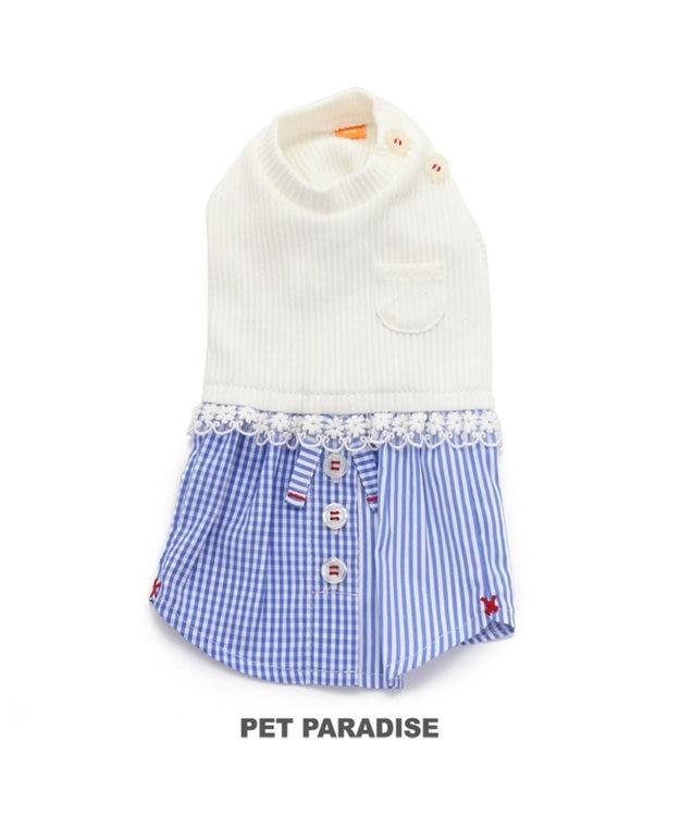 PET PARADISE ペットパラダイス 切り替え ワンピース 白〔中・大型犬〕