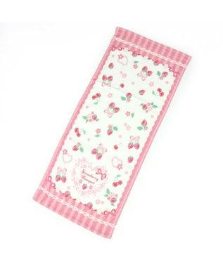 Mother garden マザーガーデン 野いちご フェイスタオル 《リボン柄》 キッズタオル ピンク(淡)