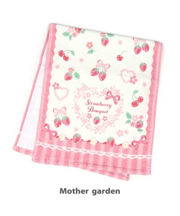 Mother garden マザーガーデン 野いちご フェイスタオル 《リボン柄》 キッズタオル